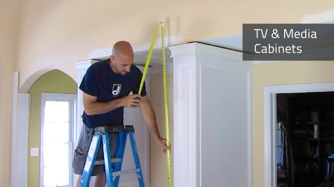 Deacon Home Enhancement is your expert for designing and installing a built-in cabinet for your TV