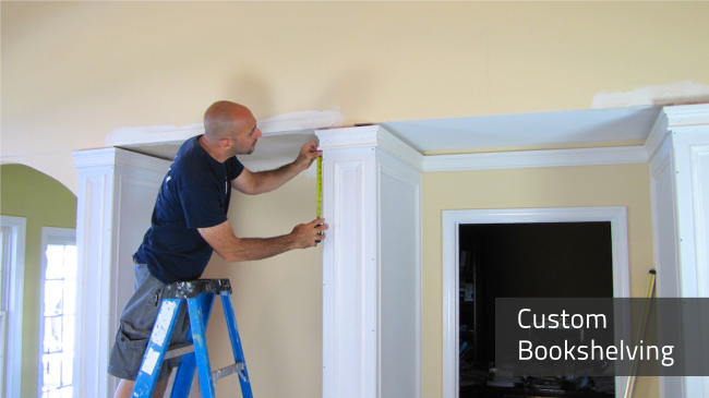 Book cases and Bookshelves are designed and installed by Deacon Home Enhancement