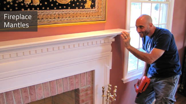 Fireplace Mantles are designed and installed by Deacon Home Enhancement