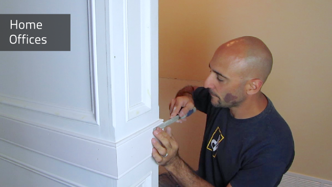 Home Office Cabinetry is designed and built by Deacon Home Enhancement