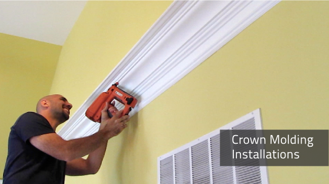 Crown Molding. Crown Molding installation by Deacon Home Enhancement